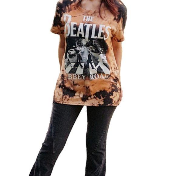 THE BEATLES Tops - --SOLD-- Custom Tie-Dye THE BEATLES T-Shirt Sz L